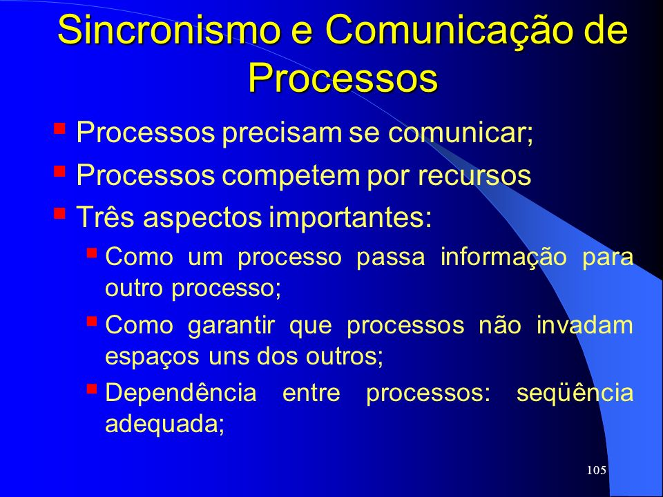 Sincronismo e Comunicação de Processos