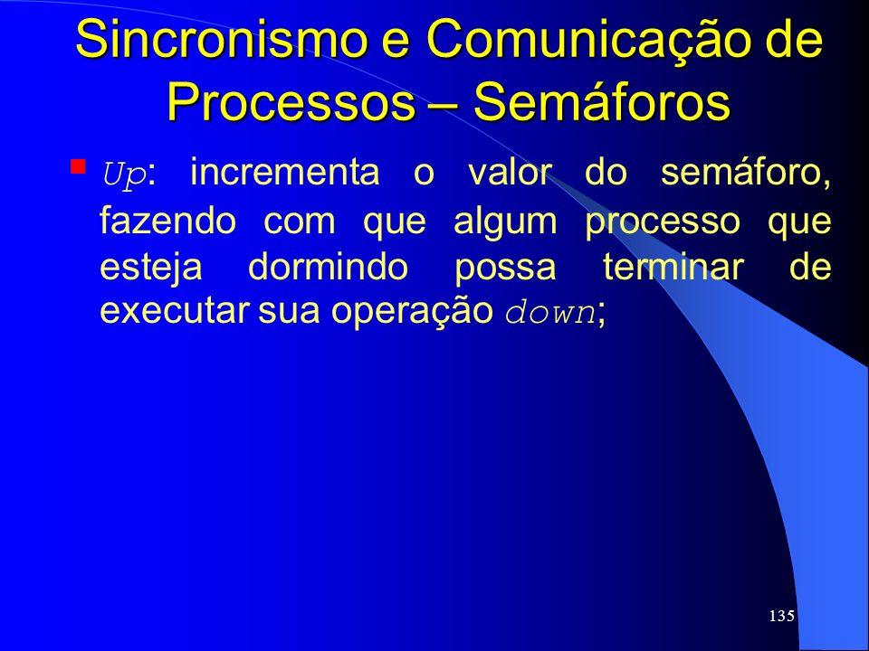 Sincronismo e Comunicação de Processos – Semáforos