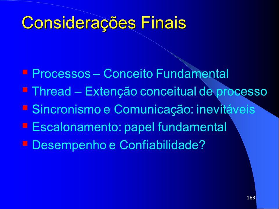 Considerações Finais Processos – Conceito Fundamental