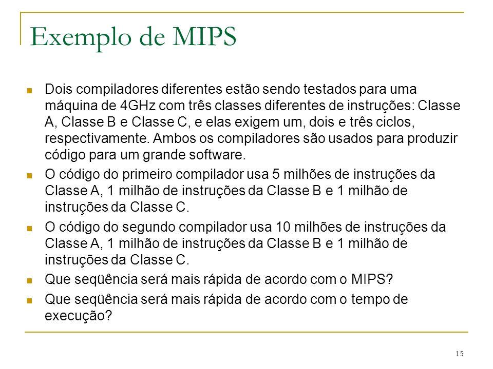 Exemplo de MIPS
