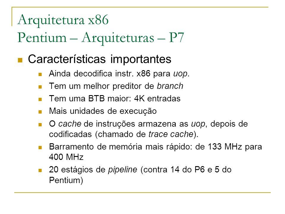 Arquitetura x86 Pentium – Arquiteturas – P7