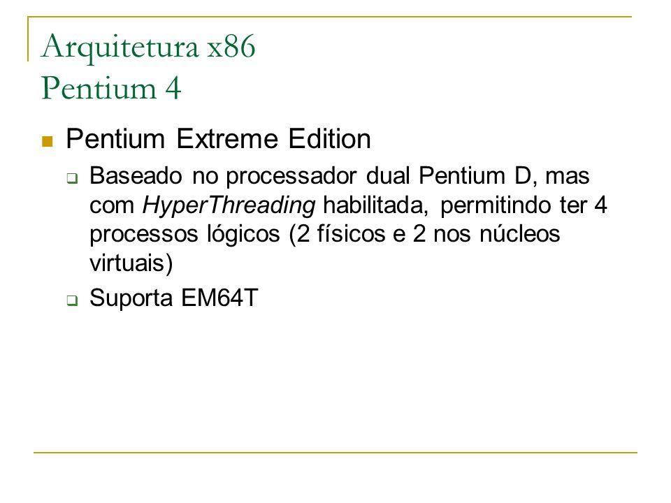 Arquitetura x86 Pentium 4 Pentium Extreme Edition