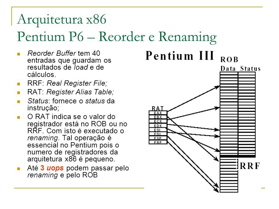 Arquitetura x86 Pentium P6 – Reorder e Renaming