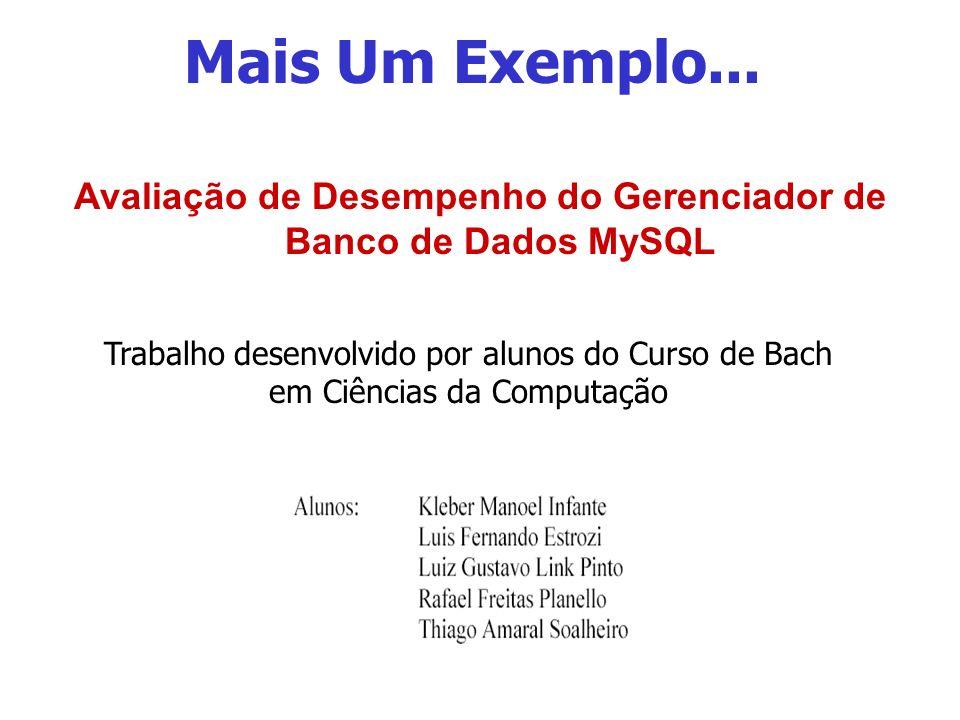 Avaliação de Desempenho do Gerenciador de Banco de Dados MySQL