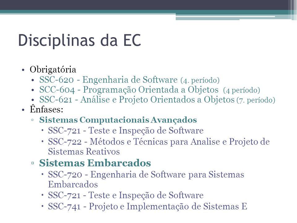 Disciplinas da EC Sistemas Embarcados Obrigatória