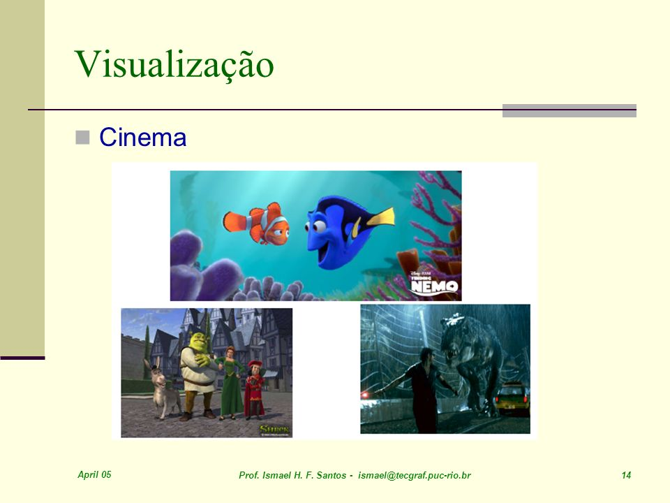 Visualização Cinema April 05