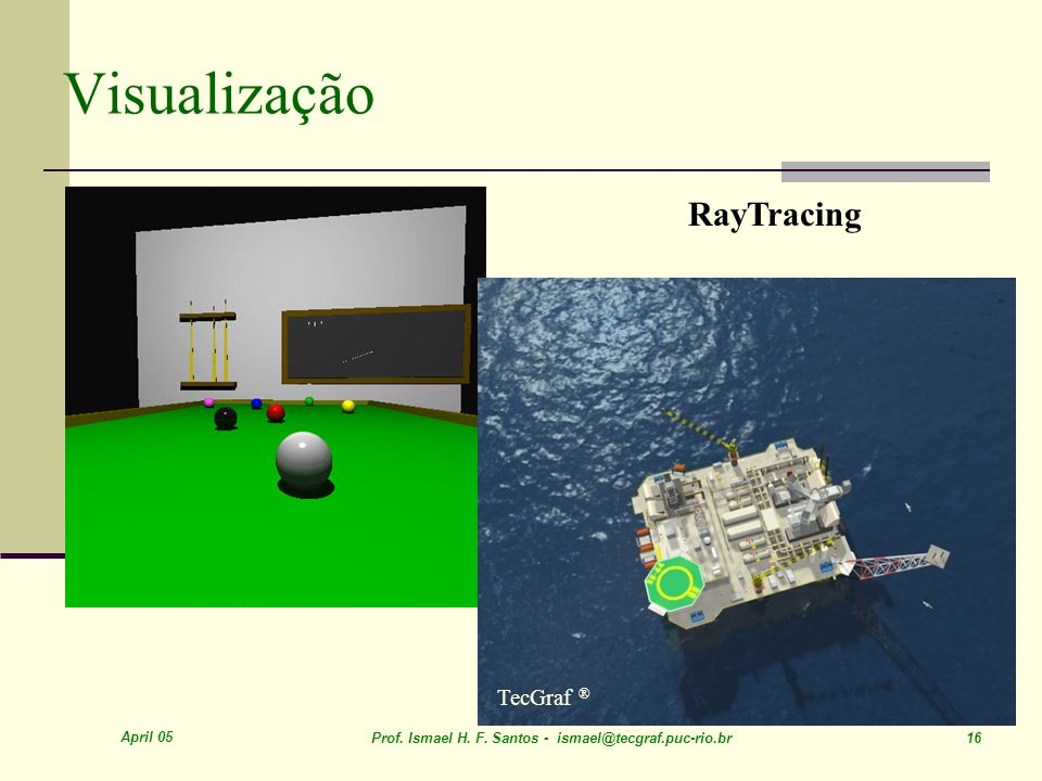 Visualização RayTracing TecGraf ® April 05