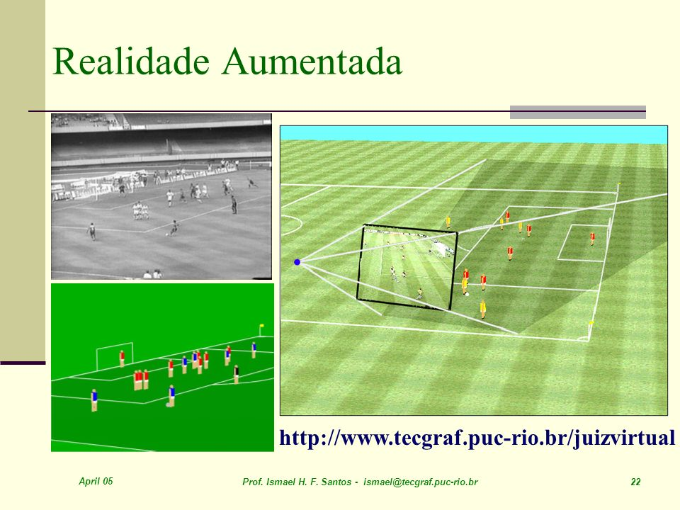 Realidade Aumentada http://www.tecgraf.puc-rio.br/juizvirtual April 05