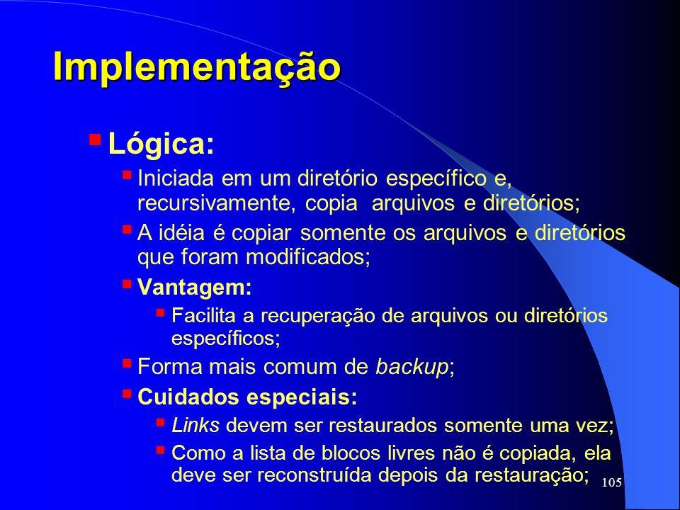 Implementação Lógica: