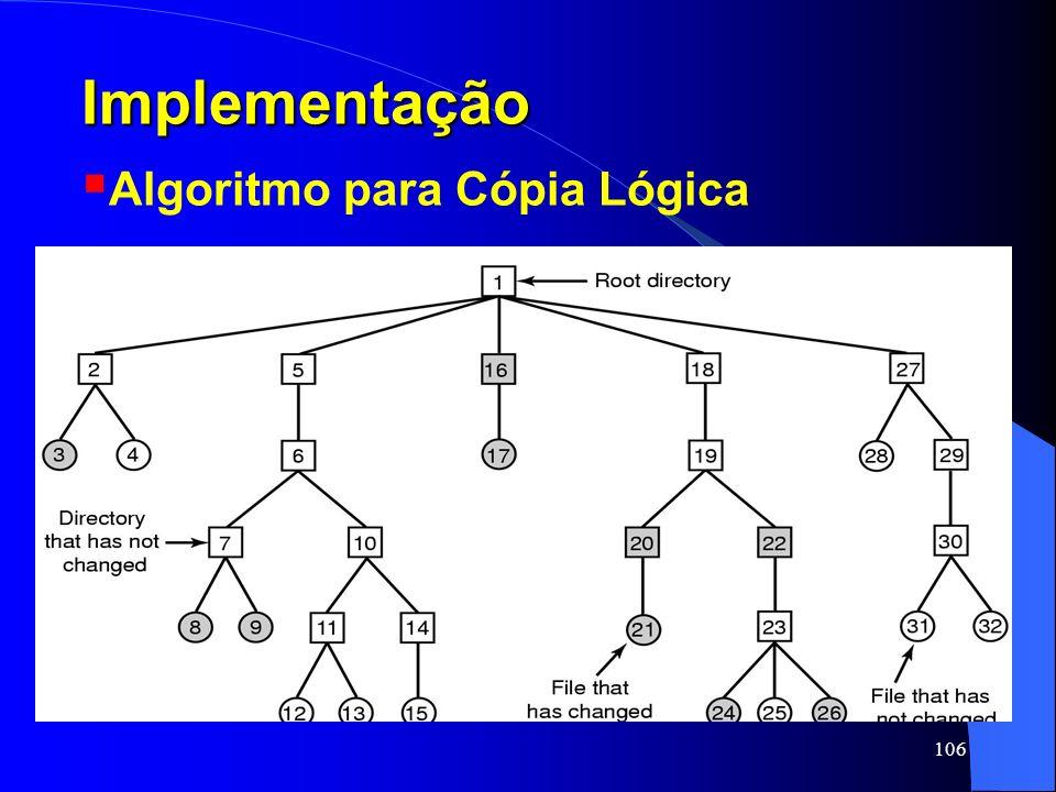 Implementação Algoritmo para Cópia Lógica