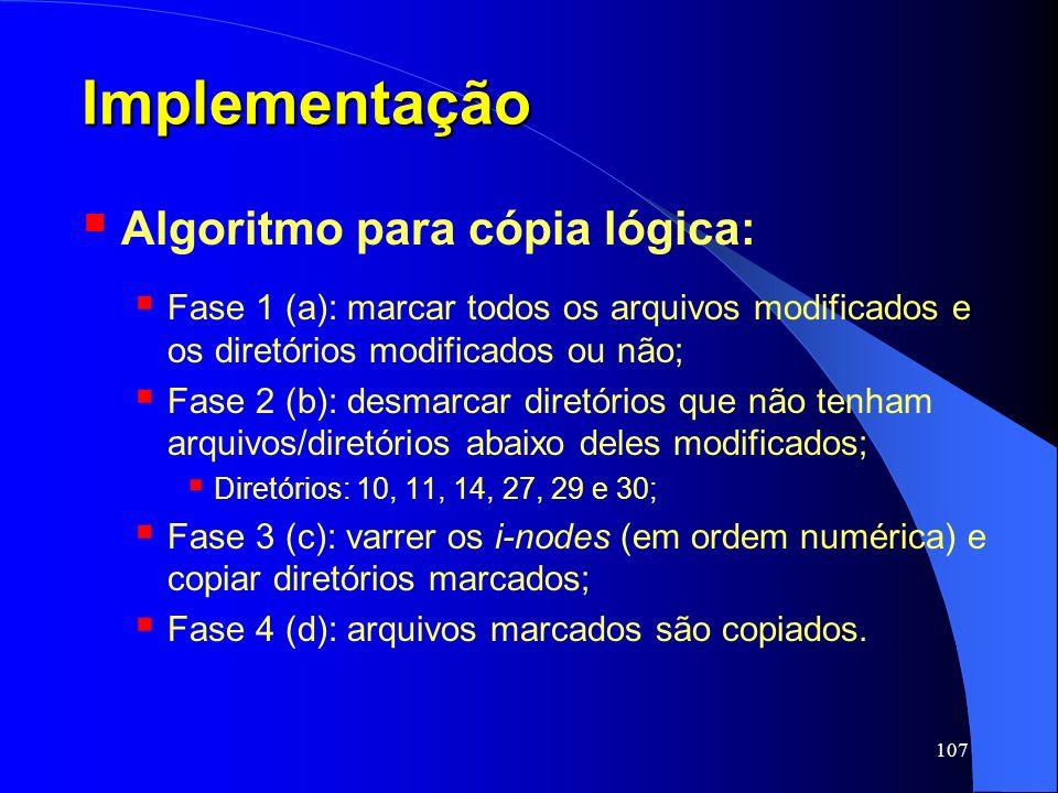 Implementação Algoritmo para cópia lógica: