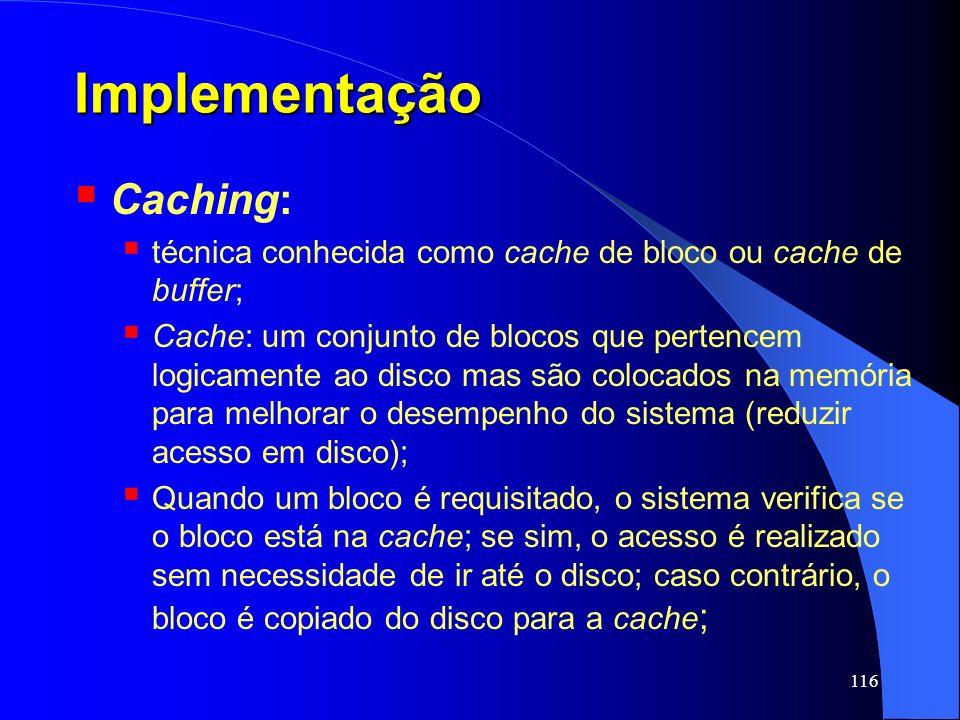 Implementação Caching: