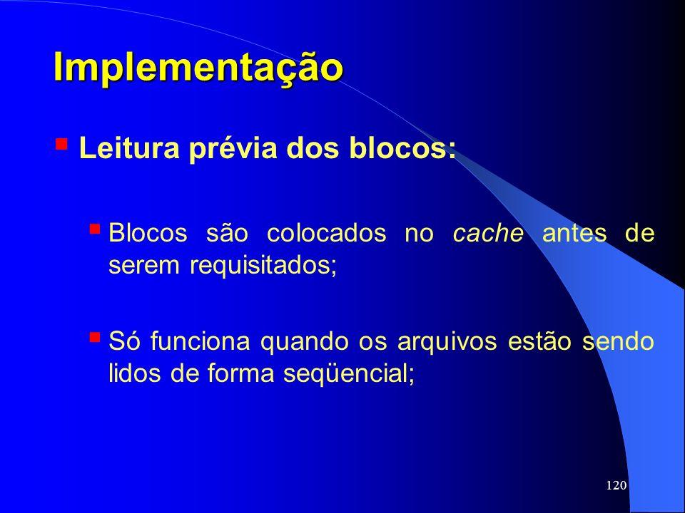 Implementação Leitura prévia dos blocos: