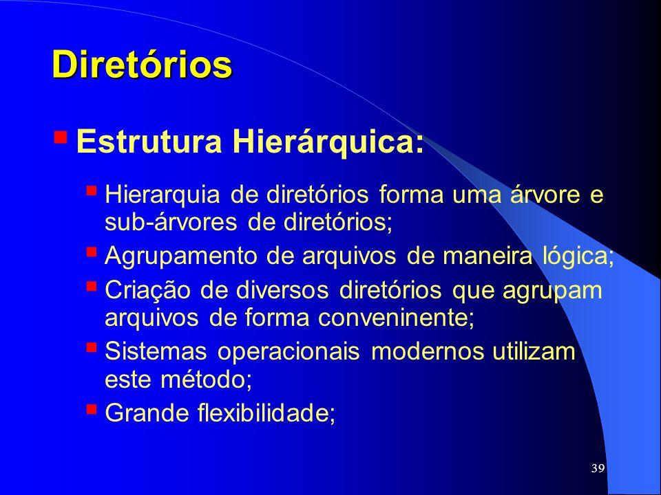 Diretórios Estrutura Hierárquica: