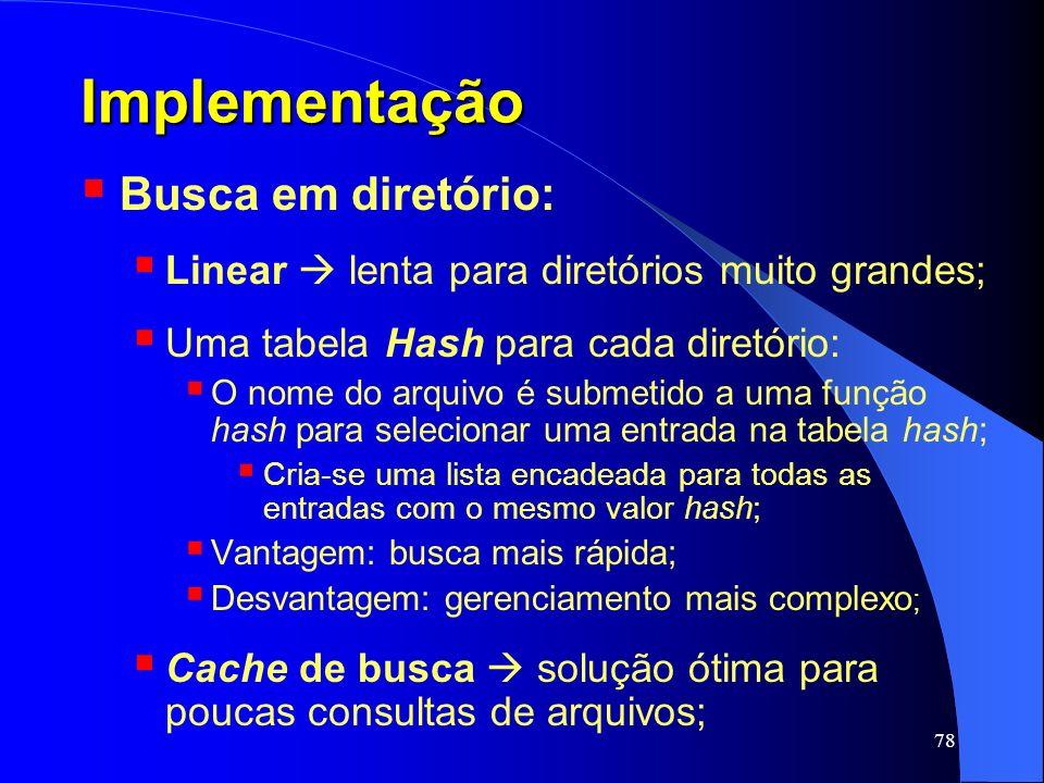 Implementação Busca em diretório: