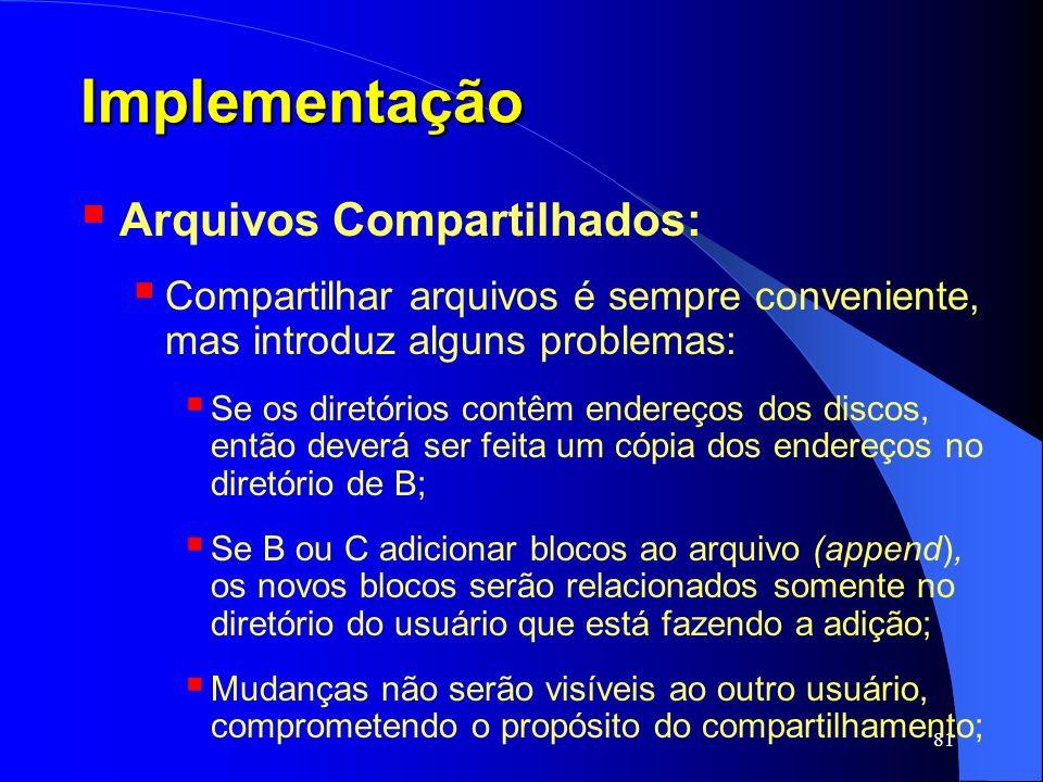 Implementação Arquivos Compartilhados: