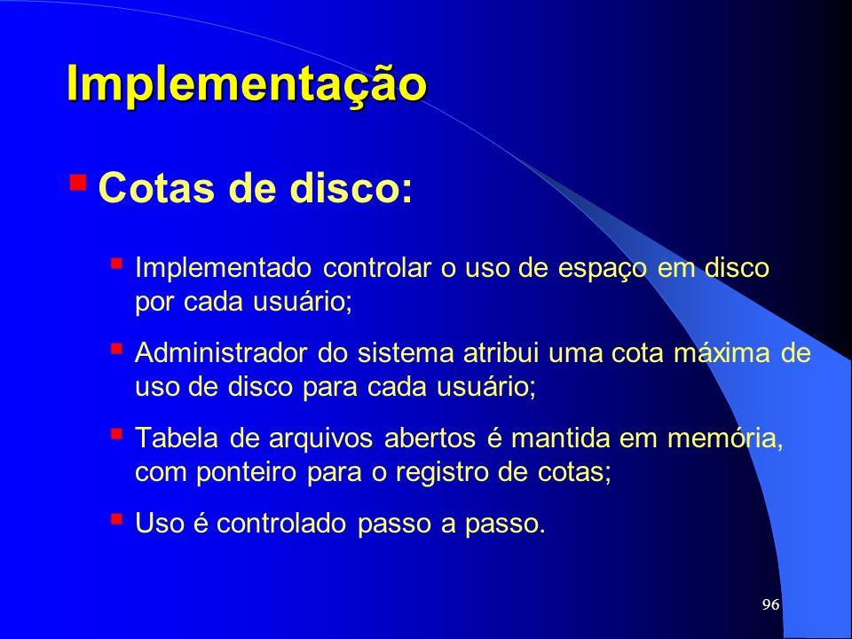 Implementação Cotas de disco: