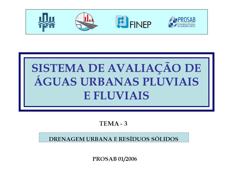 SISTEMA DE AVALIAÇÃO DE ÁGUAS URBANAS PLUVIAIS E FLUVIAIS
