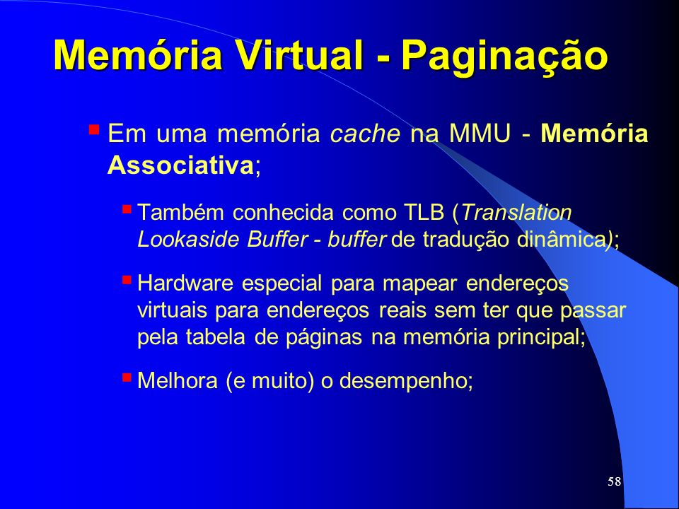 Memória Virtual - Paginação