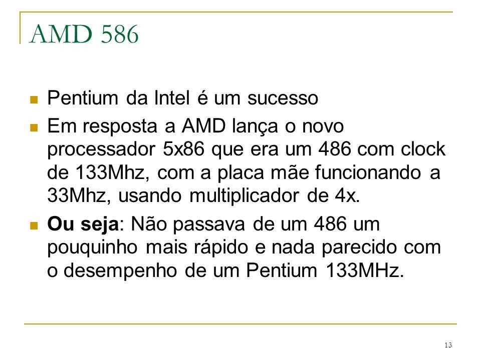 AMD 586 Pentium da Intel é um sucesso