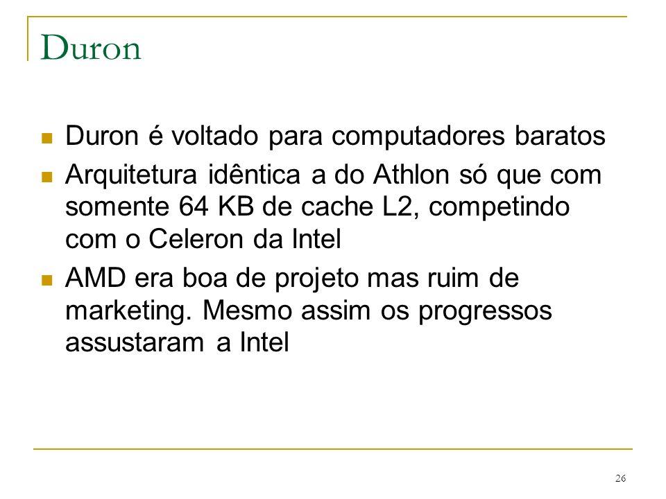 Duron Duron é voltado para computadores baratos
