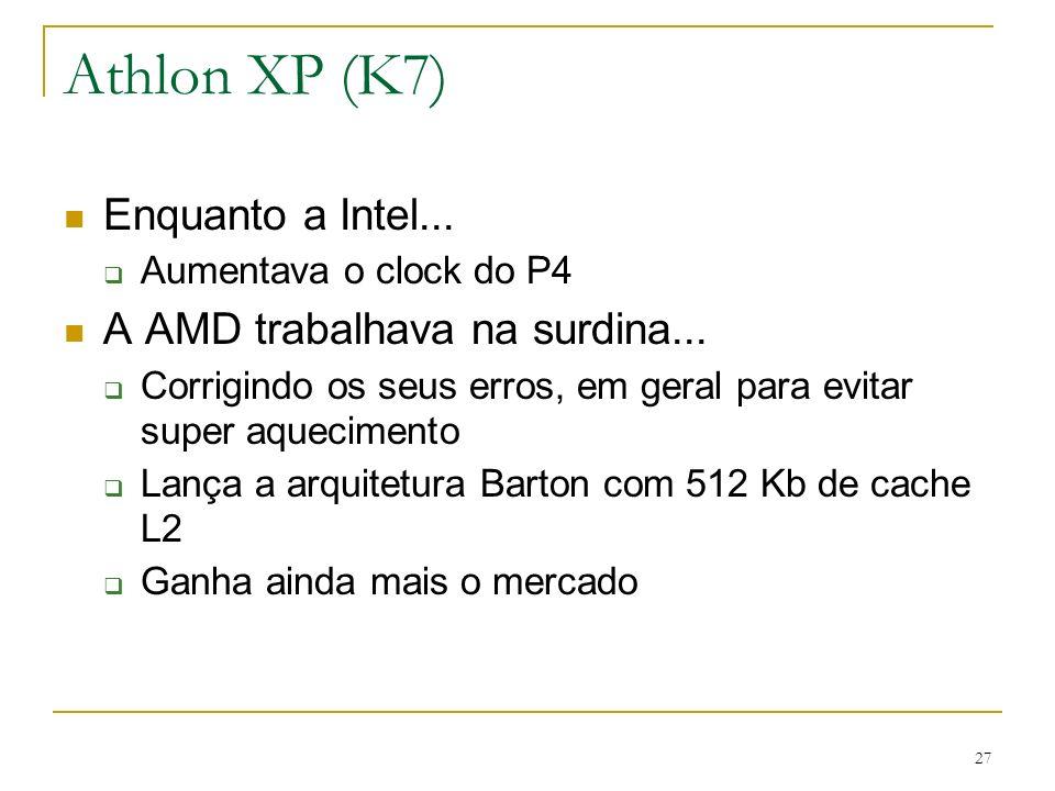 Athlon XP (K7) Enquanto a Intel... A AMD trabalhava na surdina...