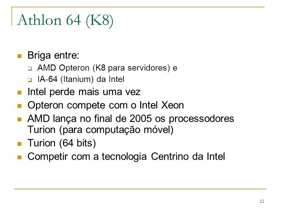 Athlon 64 (K8) Briga entre: Intel perde mais uma vez