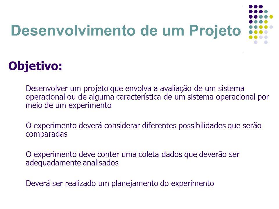 Desenvolvimento de um Projeto