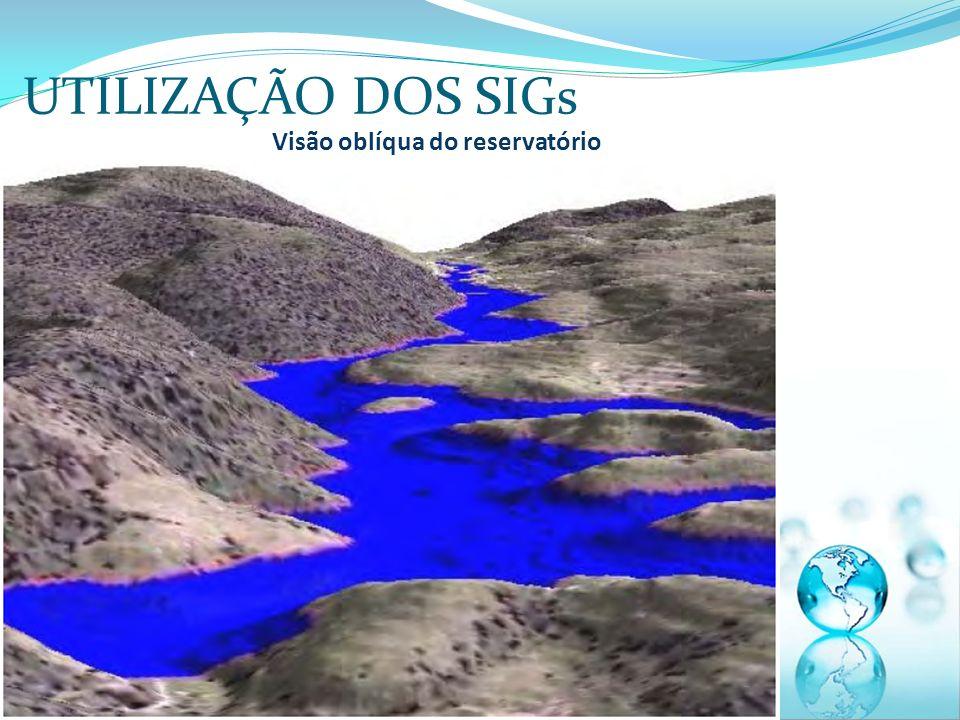 UTILIZAÇÃO DOS SIGs Visão oblíqua do reservatório