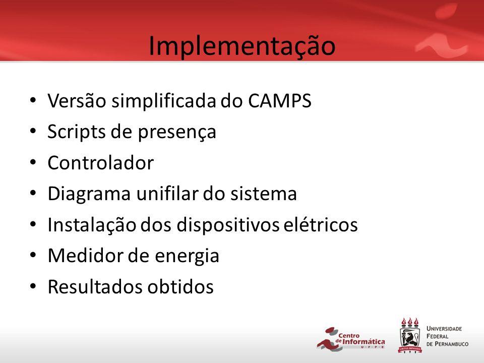 Implementação Versão simplificada do CAMPS Scripts de presença