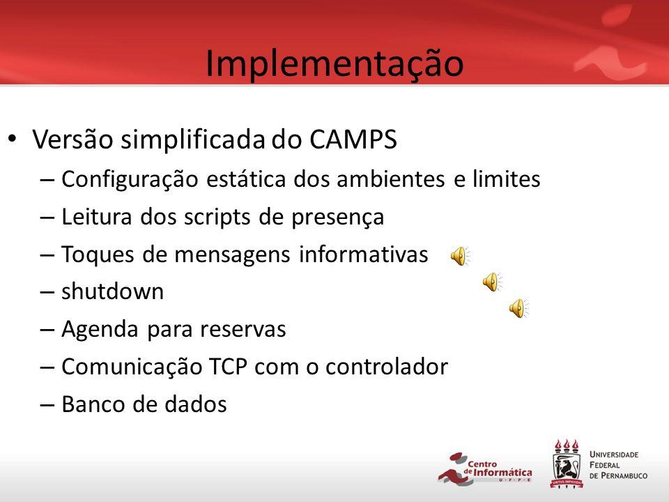 Implementação Versão simplificada do CAMPS
