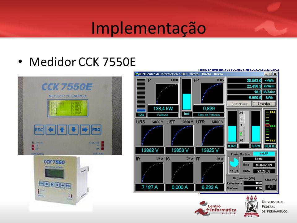 Implementação Medidor CCK 7550E