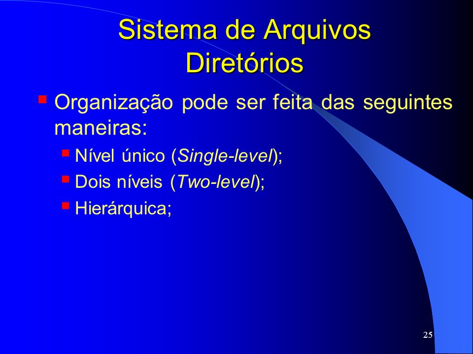 Sistema de Arquivos Diretórios