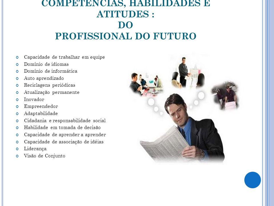 COMPETÊNCIAS, HABILIDADES E ATITUDES : DO PROFISSIONAL DO FUTURO