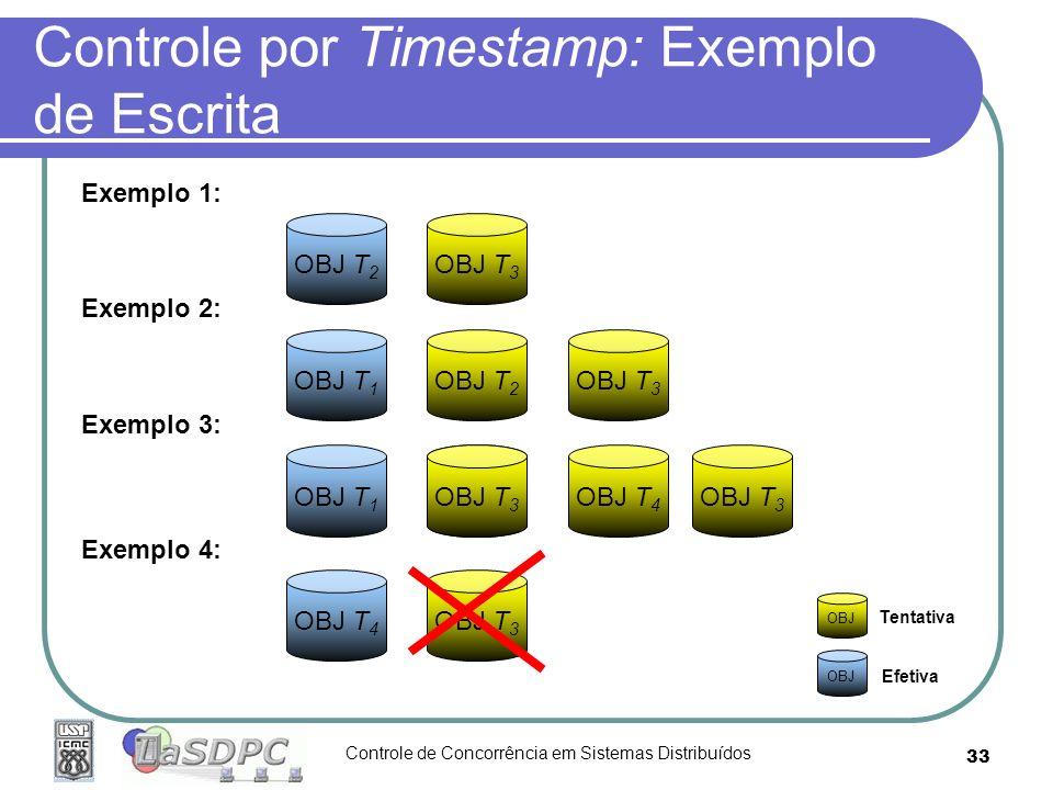 Controle por Timestamp: Exemplo de Escrita