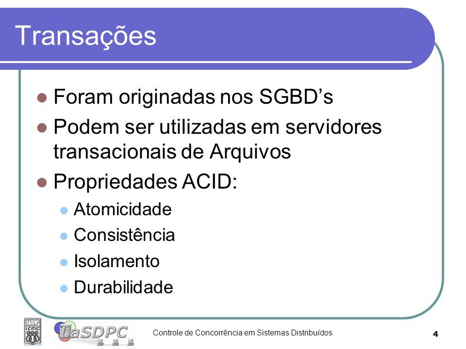 Transações Foram originadas nos SGBD's