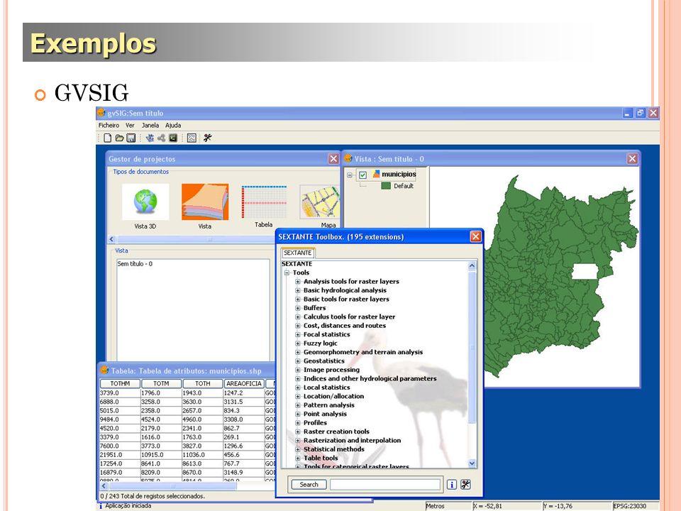 Exemplos GVSIG