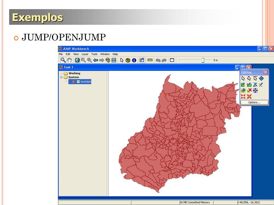 Exemplos JUMP/OPENJUMP