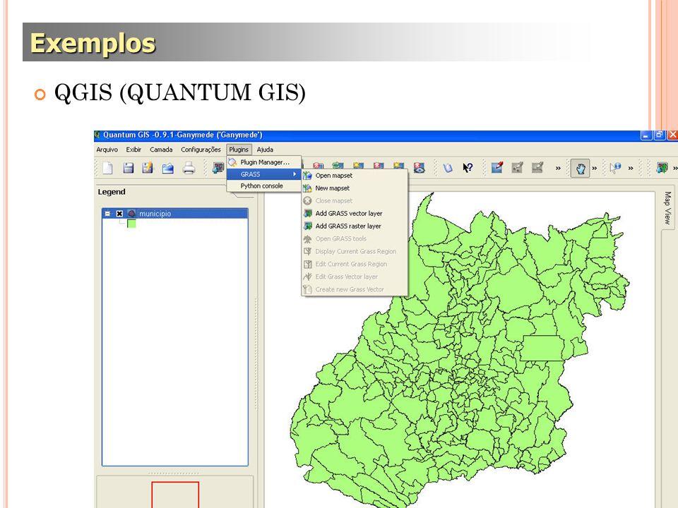 Exemplos QGIS (QUANTUM GIS)