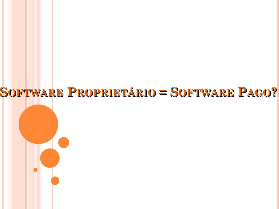 Software Proprietário = Software Pago