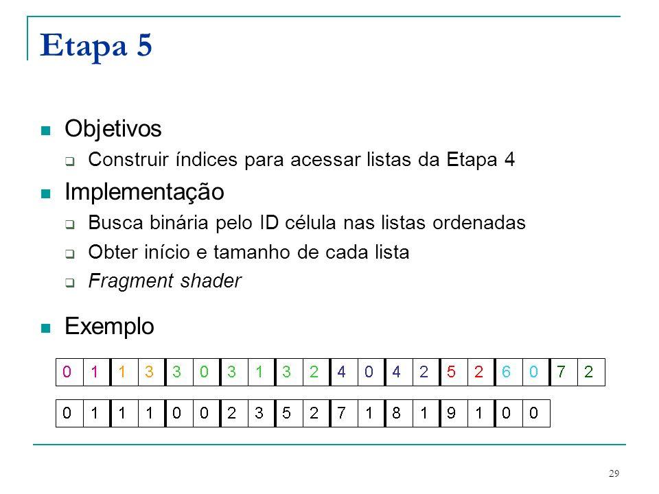 Etapa 5 Objetivos Implementação Exemplo
