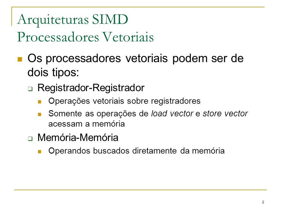 Arquiteturas SIMD Processadores Vetoriais