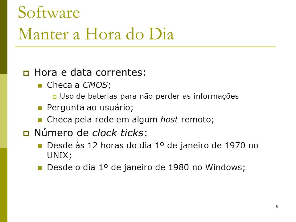 Software Manter a Hora do Dia