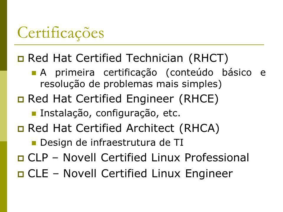 Certificações Red Hat Certified Technician (RHCT)