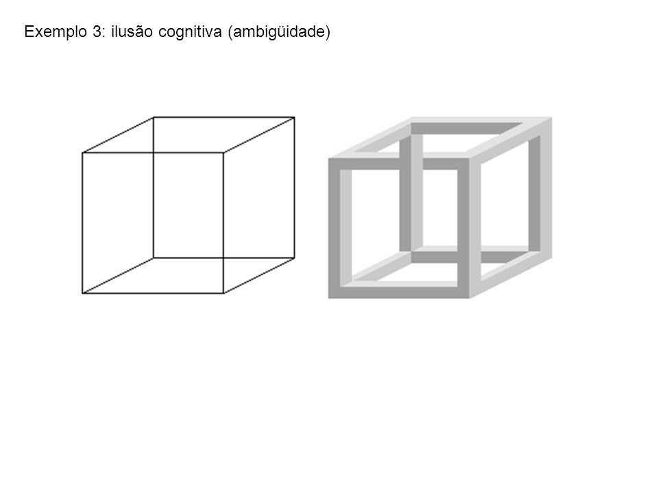 Exemplo 3: ilusão cognitiva (ambigüidade)