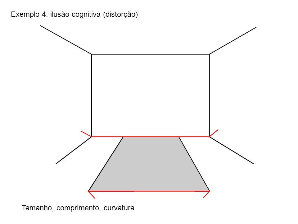 Exemplo 4: ilusão cognitiva (distorção)