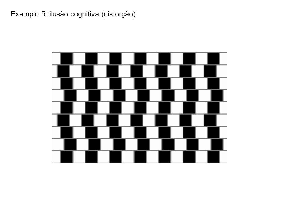 Exemplo 5: ilusão cognitiva (distorção)