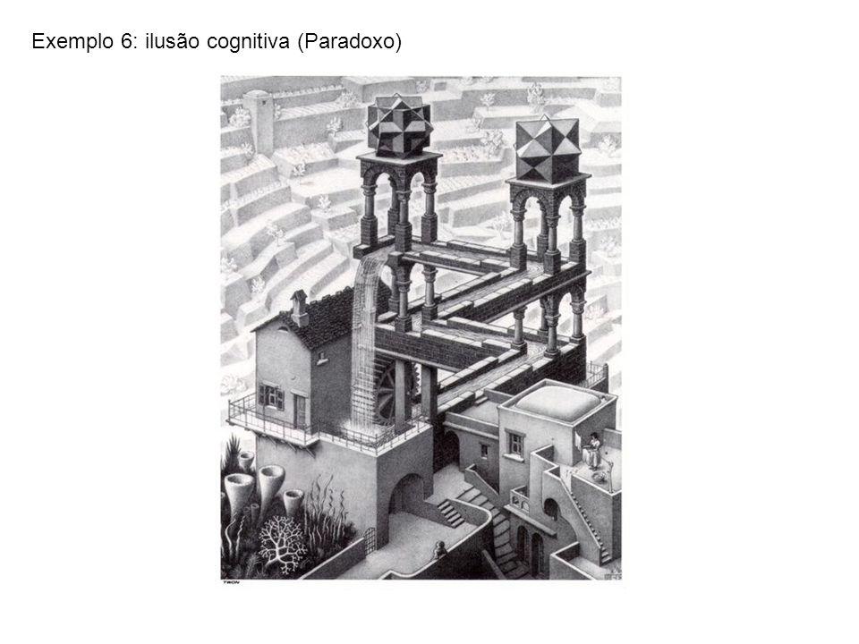 Exemplo 6: ilusão cognitiva (Paradoxo)