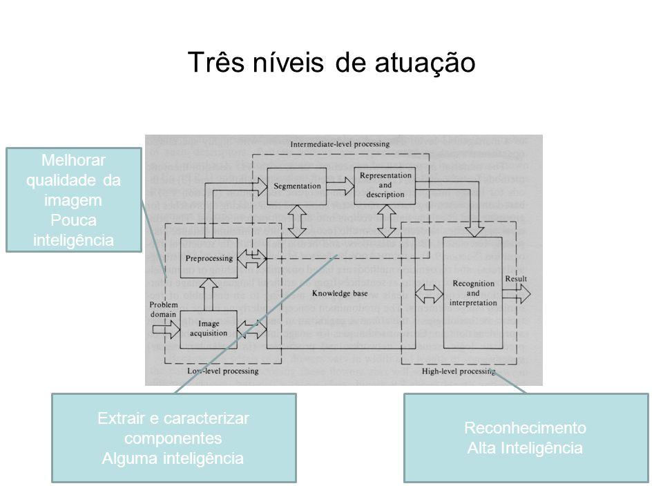 Três níveis de atuação Melhorar qualidade da imagem Pouca inteligência