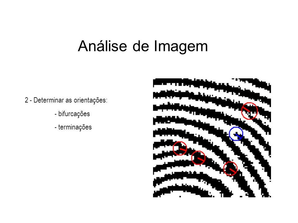 Análise de Imagem 2 - Determinar as orientações: - bifurcações